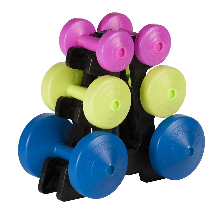 york fitness 15kg dumbbell set